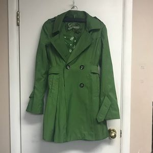 Guess | Gorgeous Emerald green trench coat size m